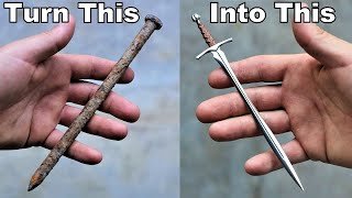 Go to https://expressvpn.com/BobbyDuke and find out how you can get 3 months free. Thanks to ExpressVPN for sponsoring this video.   I found a large rusty nail in my back yard. So naturally I turned it into a beautiful little sword lol.  Love you guys   If you want more Dukey in your life, go follow My Instagram https://www.instagram.com/bobbydukearts/ and Twitter https://twitter.com/bobbydukearts?lang=en and Patreon  https://www.patreon.com/bobbydukearts and P.O. Box   Bobby Duke 9463 Benbrook Blvd. #1135 Benbrook, TX 76126