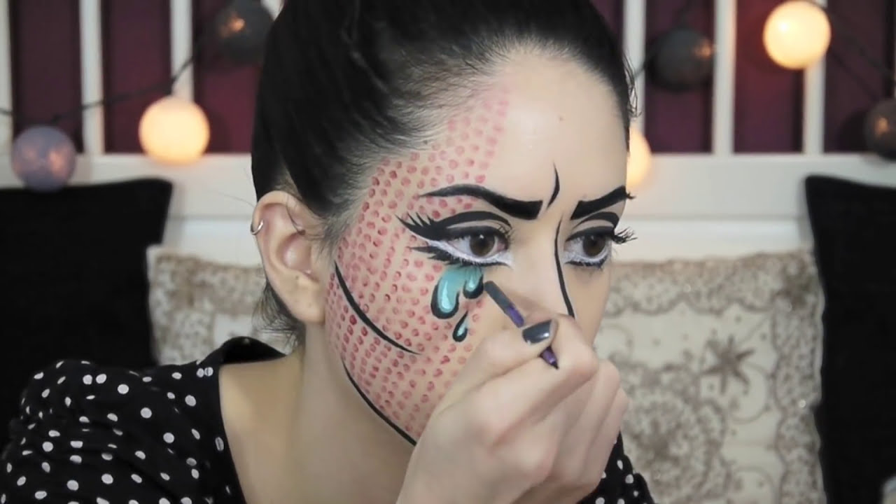 body painting pop art makeup tutorial by claire dim