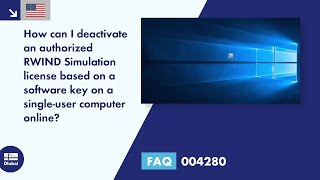 FAQ 004280 | How can I deactivate an authorized RWIND Simulation license based on a software key ...