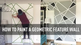 How To Paint A Geometric Feature Wall With Tape