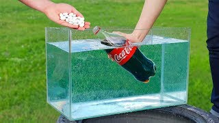 Experiment: Coca Cola and Mentos Under Water