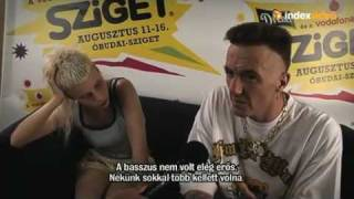 Interview au Sziget Festival - 2010