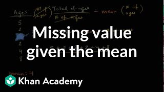 Using Mean To Find Missing Value