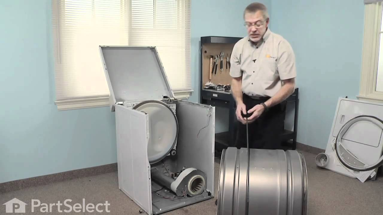 Replacing your Amana Dryer Drum Support Roller and Shaft Assembly