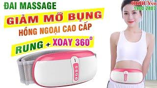 Cách giảm mỡ bụng với Đai massage rung lắc giảm mỡ bụng RED FLOWER RF-071