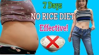 7 Days NO RICE DIET With Meal Plan (Low Carb - Keto) W/ ENG SUBS