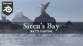 Blender Tutorial: Sirens Bay (Digital Matte Painting)
