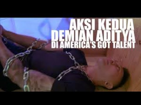 Demian Aditya: Escape Artist Risks His Life During AGT Audition - America's (видео)
