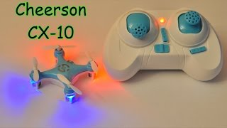 Cheerson CX-10 Mini RC Quadcopter 2.4GHz, 4Ch, 6 Axis gyro with LED (RTF)