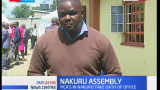 A good number of Nakuru county assembly MCA's have taken their oaths