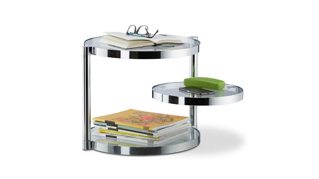 couchtisch aus glas mit 3 ablagen kaufen. Black Bedroom Furniture Sets. Home Design Ideas