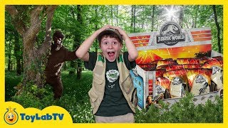 Dinosaur Surprise Toy Hunt & Adventure with Giant Prehistoric Bigfoot & Jurassic World Kids Toys