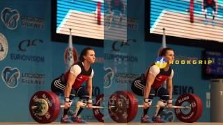 Yuliya Kalina (63, Ukraine) - C&J up to 132kg @ 2015 Europeans