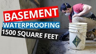 Waterproofing a Poured Concrete Basement - 1500 Square Feet