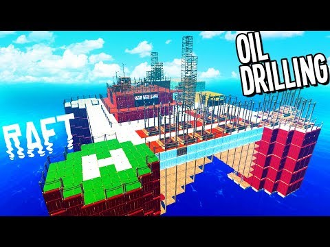 Raft: DRILLING OIL FROM THE BOTTOM OF THE OCEAN FOR UTOPIA CITY - Raft Gameplay