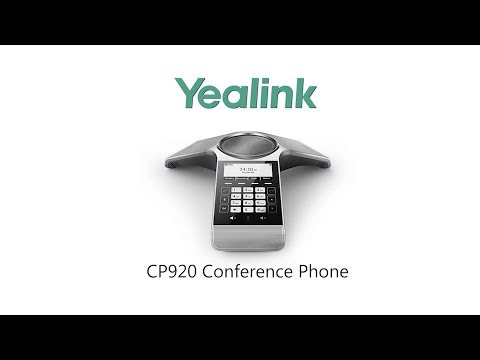 Yealink CP920 VoIP/SIP Conference Phone (SIP-CP920), 5-Way, PoE, 3 1