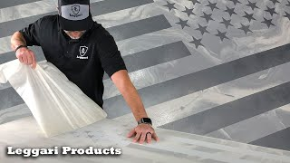 DIY A Simple Way To Make An American Flag From Epoxy Resin | Resin Art | Leggari Flag Technique