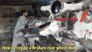 Repairing broken rear wheel hub and complete Fitting video