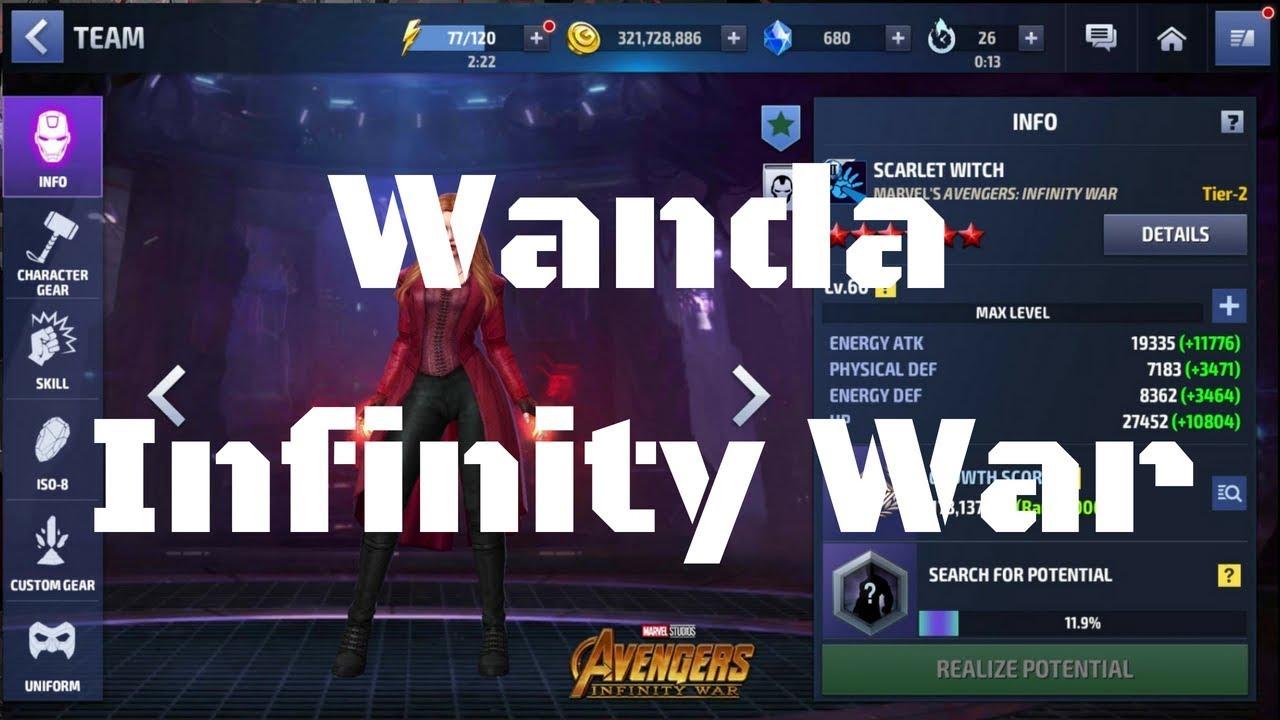 รีวิว Wanda (Scarlet Witch) ยู Infinity War