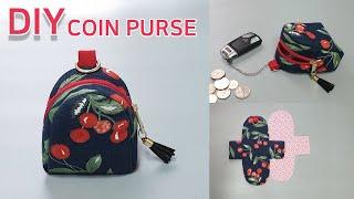 DIY Cute Coin Purse/Small Zipper Pouch Tutorial/Free Patterns/귀여운 동전지갑 만들기/패턴공유