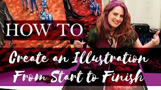 How To Create an Illustration from Start to Finish