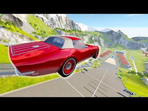 CORVETTE VS CAR JUMP ARENA! - BeamNG Drive Gavril Vendetta NEW CAR MOD