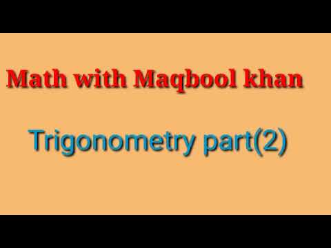 Introduction of trigonometry (MATH) part 2