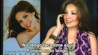 Thalia Habla de Tommy Mottola [Habla con su Bebe Matteo Alejandro] (Ventaneando) Parte 2