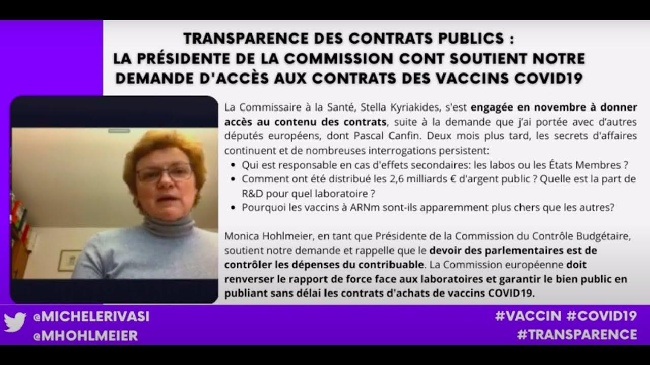 Transparence des contrats vaccins COVID19 : Nous devons savoir !