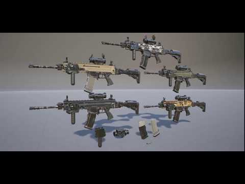 UE4 Assets: Russian Assault Rifle (AK105) FPS Animated