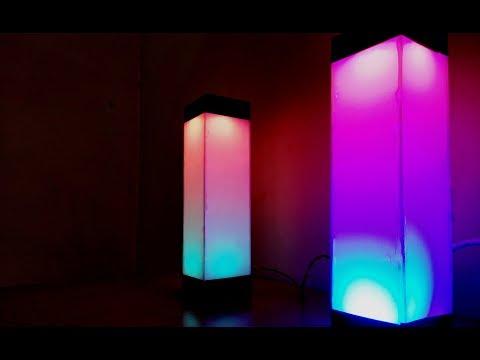 How to make Beautiful Color Night Lamp   DIY Light