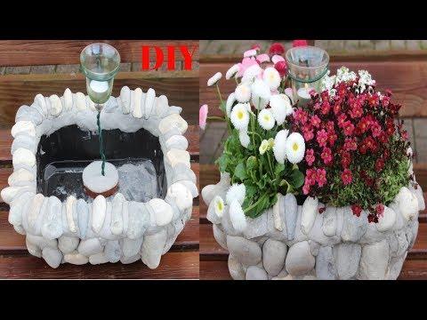 DIY Recycling-aus Müll wird wunderschöne Gartendeko/Rubbish turns on beautiful Garden Decoration