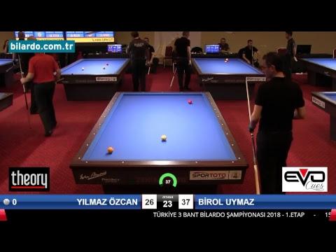 YILMAZ ÖZCAN & BİROL UYMAZ Bilardo Maçı - 2018 - TÜRKİYE 1.LİGİ-Çeyrek Final