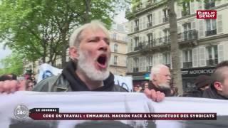 Code du travail : Emmanuel Macron face à l'inquiétude des syndicats