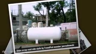 preview picture of video 'Bangladesh ship's graveyard Janrostkowski's photos around Chittagong, Bangladesh (travel pics)'