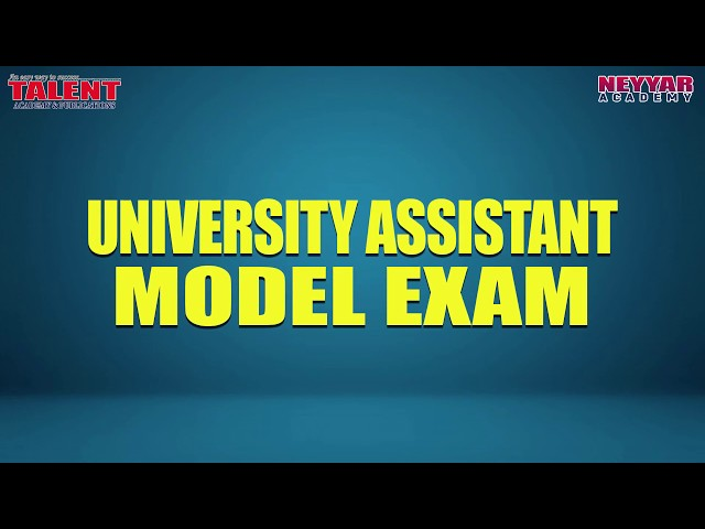 FREE UNIVERSITY ASSISTANT MODEL EXAM | TAMES |Talent Academy