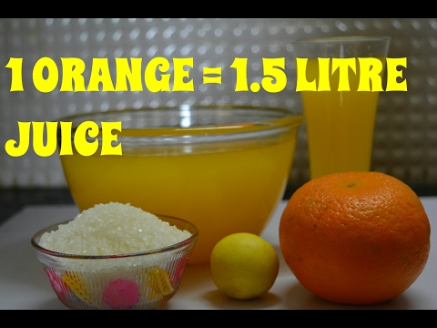 Video How To Make Orange Juice | Homemade Orange Juice | Orange Juice Recipe At Home