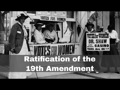 18th August 1920: Ratification of 19th Amendment of the US Constitution guarantees female suffrage