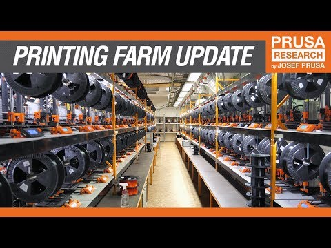 Hundreds of 3D Printers in One Room: It's the New Prusa