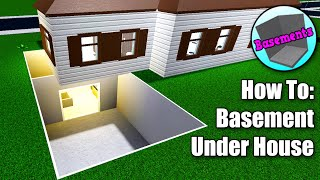 Bloxburg: How To Build A Basement Under Your House? • Roblox