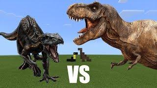 Indoraptor vs T-Rex | Minecraft PE - dooclip.me