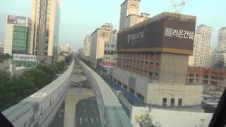 South Korea monorail cab ride. Daegu Monorail (also known as