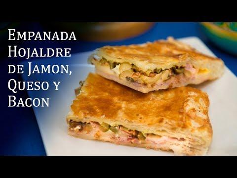 Empanada de Hojaldre de Jamon, Queso y Bacon Muy Facil