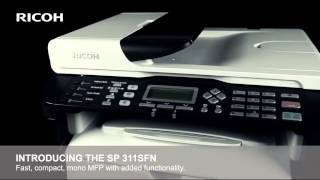 Ricoh SP 311SFNw wireless black and white multifunctional printer