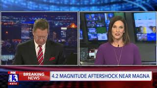 Utah Emergency Management spokesman speaks on 4.2-magnitude aftershock
