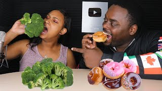 ASMR HEALTHY FOOD VS JUNK FOOD | ASMR EATING NO TALKING | EATING SOUNDS | BEAUTY AND THE BEAST ASMR