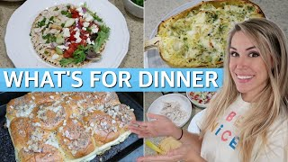 WHAT'S FOR DINNER? EASY DINNER IDEAS & RECIPES | SIMPLE MEALS