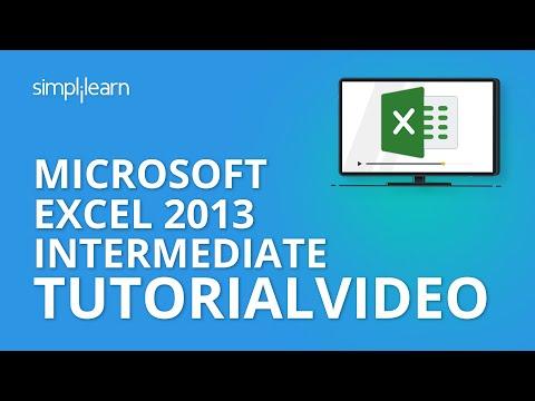 Microsoft Excel 2013 Intermediate Tutorial Video | MOS Certification ...