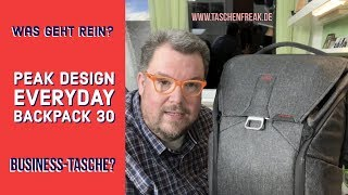 Ich packe aus! ... den Peak Design Everyday Backpack 30 - als Office-Rucksack