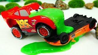 Şimşek McQueen ve Lamborghini yarışıyorlar. Disney Cars ile oyunlar.